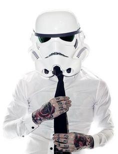 Tattooed office storm trooper :D. #tattoo #tattoos #ink