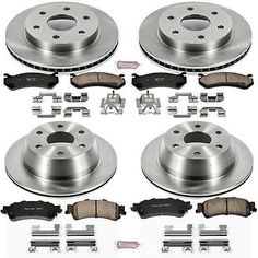 2453 4 Platinum Hart *DRILLED /& SLOTTED* Disc Brake Rotors 2 FRONT + 2 REAR