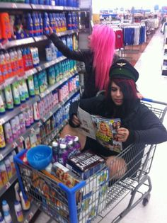 this is me...at walmart...with my sister