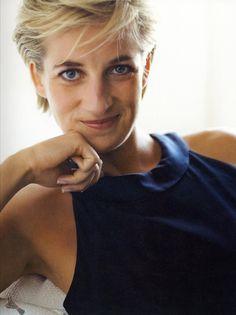 "Princess Diana with navy blue dress.    "":O)"