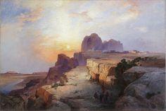 Thomas Moran (American, b. England, 1837-1926) Hopi Village, Arizona, 1916 Oil on canvas, 20 x 30 in.