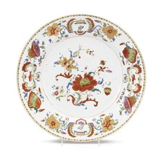 CHINESE EXPORT PORCELAIN 'POMPADOUR' PATTERN CHARGER, CIRCA 1745