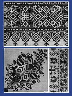 Iva Rose Vintage Reproductions - Le Point de Croix #1 - Beautiful French Cross Stitch Charted Designs c.1916