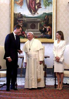 Reyes Felipe VI y Letizia en el Vaticano