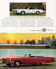 Cadillac DeVille Convertible 1967 - Mad Men Art: The 1891-1970 Vintage Advertisement Art Collection