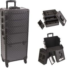 Black Dmnd Trolley Makeup Case - I3361