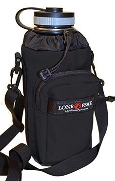 Lone Peak Hydroflask 40 oz Stainless Water Bottle Carrier Pouch Black      Read more 66b498da7
