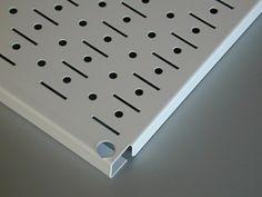 Wall Control Storage Systems - 32in x 16in Galvanized Metal Pegboard Tool Board Panel - Metallic, $18.99 (http://www.wallcontrol.com/32in-x-16in-galvanized-metal-pegboard-tool-board-panel-metallic/)