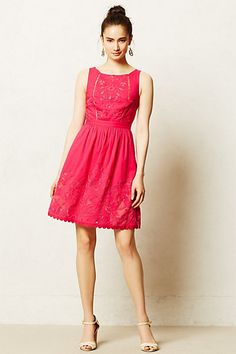 Pink Embroidered Rhododendron Dress   Anthropologie  90 Dress Brands fc25e6debc