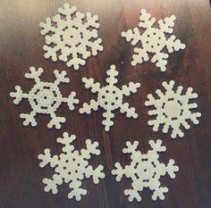 hama bead snowflakes original blog link