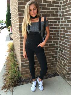 Black overalls #swoonboutique