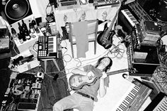Kevin Parker recording Lonerism in his home Studio, 2011