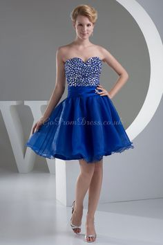 Short Prom Dresses Electric Blue 83
