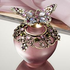 Purple Butterfly Perfume Bottle