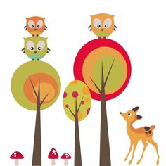 Delightful Woodland Digital Clipart Set - Great for Scrapbooking, Cardmaking and Paper Crafts