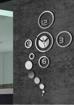 Moderne Design Wandtattoo Dekoration Uhren Spiegel Wanduhr aus DE