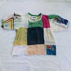 Patchwork Market Blouse #15 — Town Clothes Independent Clothing, Clothes Horse, Hand Stitching, Fabric Weights, Vintage Antiques, What To Wear, Marketing, Blouse, Cotton