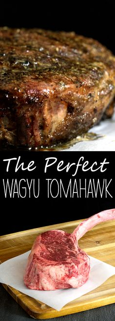 Want to know all the secrets to cooking a perfect tomahawk steak? Learn how to make the best steak of your life, right in your own home! (Try Tip Steak) Seared Salmon Recipes, Grilled Steak Recipes, Pan Seared Salmon, Grilled Meat, Grilling Recipes, Beef Recipes, Cooking Recipes, Cooking Games, Cooking Classes