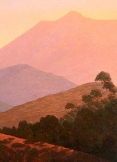 Mt. Tamalpais, original oil painting, Northern California landscape painting, wall art http://terrysauve.com