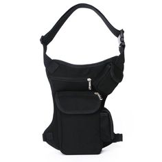 Eshow Men's Retro Canvas Sports Racing Drop Tactical Leg Bag Fanny Pack Bike Cycling Hip Bag ** Check out this great product.
