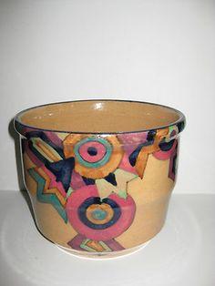 Czech Mrazek Geometric Pottery Planter