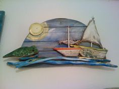 seaside mykonos furniture: Νεοι πίνακες με παλιά ξύλα με θέματα βάρκες . Driftwood boats