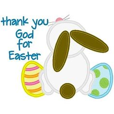 Easter Thanks Applique - 3 Sizes! | Religious | Machine Embroidery Designs | SWAKembroidery.com Band to Bow