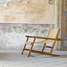 Hanbury Chair Beige Leather  by Dessié
