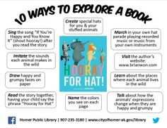 10 Ways to Explore a Book: Hooray for Hat