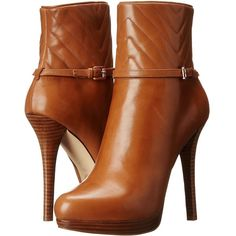 MICHAEL Michael Kors Avery Bootie Women's Dress Zip Boots, Brown ($125) ❤ liked on Polyvore featuring shoes, boots, ankle booties, ankle boots, heels, brown, brown booties, high heel bootie, stacked heel booties and brown ankle booties