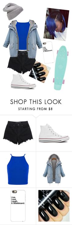 """Skateboard"" by iheartpastel ❤ liked on Polyvore featuring T By Alexander Wang, Converse, Casetify, UGG Australia, women's clothing, women, female, woman, misses and juniors"