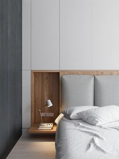 French Home Interior Sosnovaya - Picture gallery Bedroom Bed Design, Modern Bedroom Design, Contemporary Bedroom, Home Bedroom, Bedroom Decor, Modern Minimalist Bedroom, Master Bedroom, Apartment Interior, Room Interior