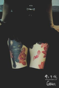 cat tattoo by harizanmai.jp