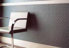 Lincrusta Tapete grau grün Flur modern - Lincrusta wallpaper 28 online kaufen