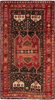 Black x 8 Sirjan Persian Runner Rug Persian Carpet, Persian Rug, Carpet Runner, Rug Runner, Buy Rugs, Bedroom Carpet, Old Antiques, Hand Knotted Rugs, Wool Area Rugs