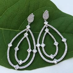 Gorgeous double drop earrings from Kay Wolf are the perfect earrings for that special occasion.
