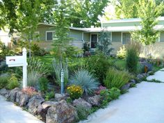 Small Front Yard Landscaping Ideas Colorado Landscape Design Ideas regarding Front And Backyard Landscaping Ideas Xeriscape Front Yard, Small Front Yard Landscaping, Drought Resistant Landscaping, Walkway Landscaping, Sustainable Garden, Backyard Garden, Xeriscape Landscaping, Yard Design, Backyard
