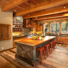 Sunriver Family Lodge - contemporary - kitchen - portland - Scott Gilbride/Architect Inc.