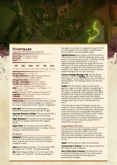 dnd-5e-homebrew: Dragon Age Demons Part 2 by Emmetation
