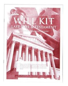 Do-It-Yourself Last Will and Testament Forms, Living Wills and ...