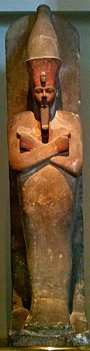 Amenhotep I (dressed as Osiris, God of the Dead)