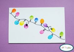 Thumbprint Christmas Tree Lights