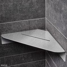 Noos Duschwanne von Phos www. Master Bathroom Layout, Modern Bathroom, Small Bathroom, Metal Furniture, Bathroom Furniture, Sheet Metal Art, Sheet Metal Fabrication, Shelf Design, Design Design