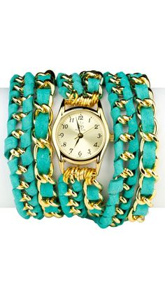 Small Face, Lamb Leather Wrap Watch--beautiful but doesn't have to be lamb leather for me :(