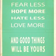 and good things will be yours ! <3