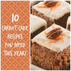 10 Homemade Carrot Cake Recipes You Need! From traditional carrot cake recipes to cookies and slimmed down versions, this is a collection you need to check out. Especially with Easter around the corner!