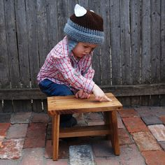Step Stool made from reclaimed wood