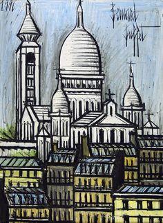 Bernard Buffet: Le Sacré Coeur, Montmartre, 1996 - Painting