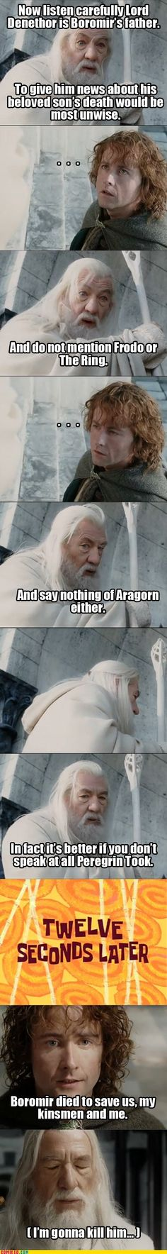 Some one else must also be going on a marathon. Coz all these LOTR memes keep popping up. :) Its great