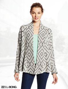 Billabong Juniors Beyond The Sands Printed Cardigan Sweater